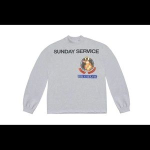 Sunday Service Gray XL Longsleeve yeezy supreme